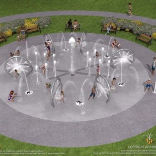 Splash Pad at Tribute Park